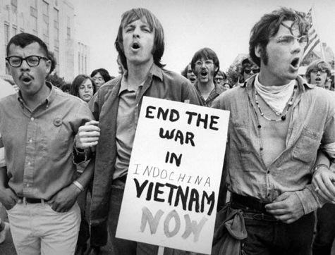 an anti war movement march